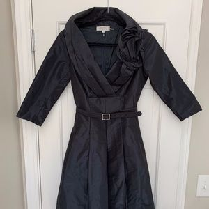 Teri Jon Dark Navy Dress Size 2